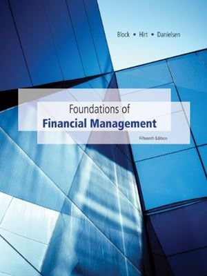 Foundations of Financial Management, 15th Edition Solutions
