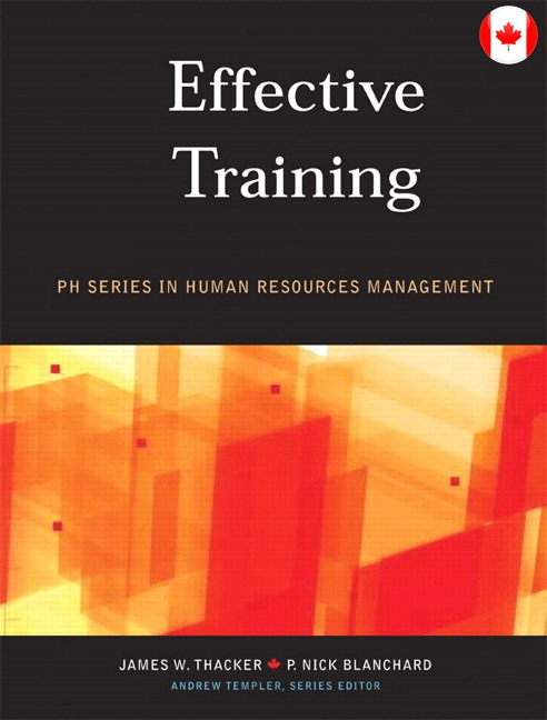 Effective Training, Canadian Edition Solutions