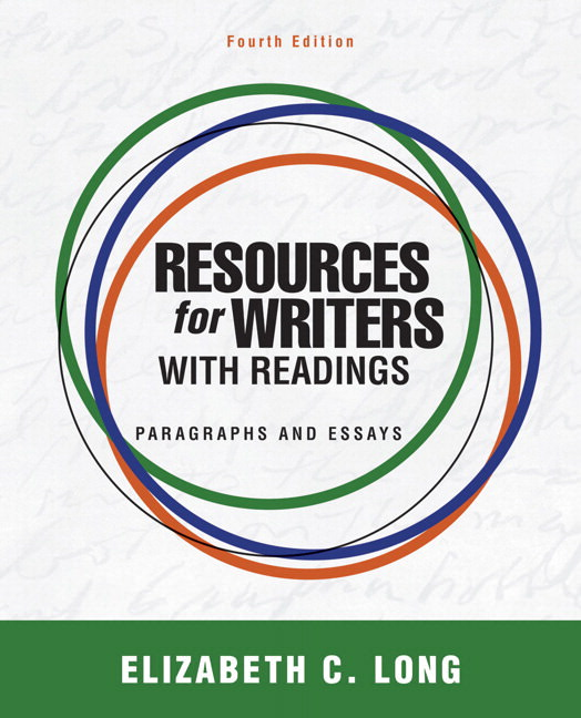 Resources for Writers with Readings: Paragraphs and Essays Guide