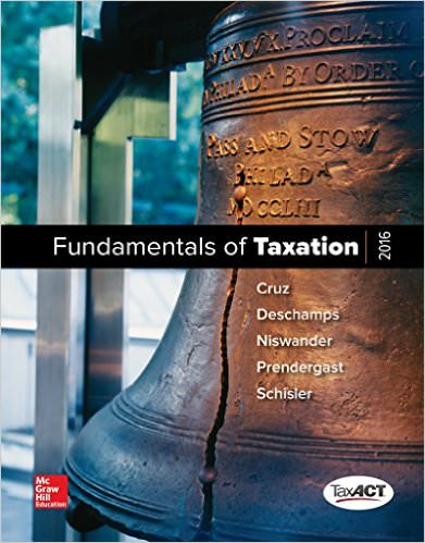Solutions for MP Fundamentals of Taxation, 9th Edition