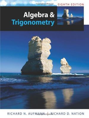 Solutions for Algebra and Trigonometry, 8th Edition