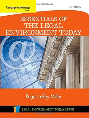 Cengage Advantage Books: Essentials of the Legal Environment Today Guide