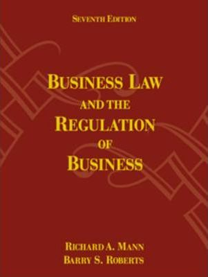 Business Law And The Regulation Of Business Guide